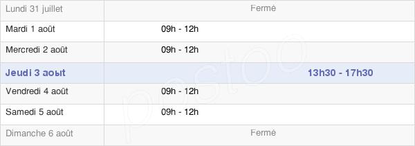 horaires d'ouverture de la Mairie D'Izé
