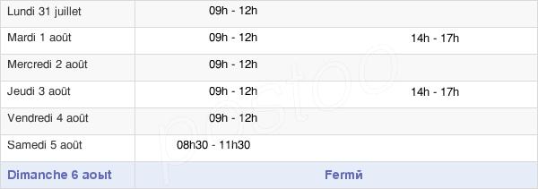 horaires d'ouverture de la Mairie De Grez En Bouère