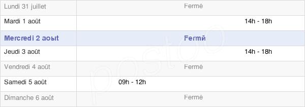 horaires d'ouverture de la Mairie De La Bazouge-Des-Alleux