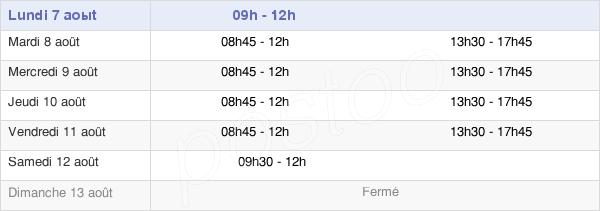 horaires d'ouverture de la Mairie De Gorron