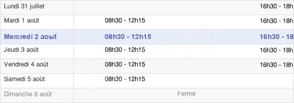 horaires d'ouverture de la Mairie Du Le Genest-Saint-Isle