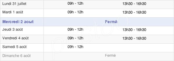 horaires d'ouverture de la Mairie De Vautorte