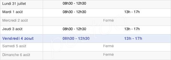horaires d'ouverture de la Mairie De Saint-Martin-Du-Limet