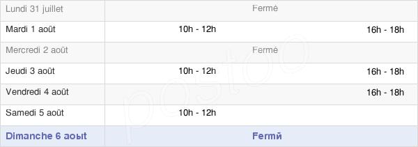 horaires d'ouverture de la Mairie De Saint-Aubin-Fosse-Louvain