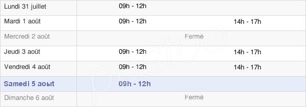 horaires d'ouverture de la Mairie De Désertines