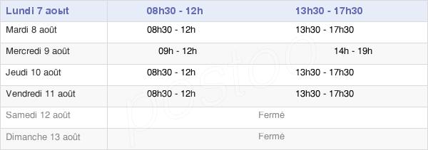 horaires d'ouverture de la Mairie De Saint-Ouën-Des-Toits