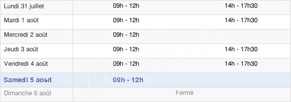 horaires d'ouverture de la Mairie De Vaiges