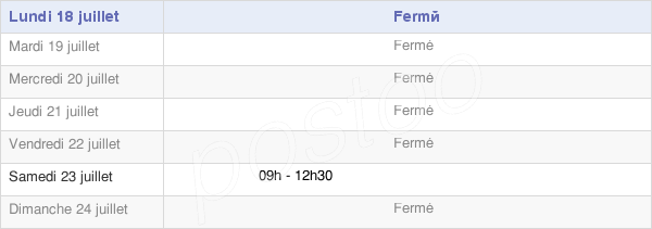 horaires d'ouverture de la Mairie Du Ribay