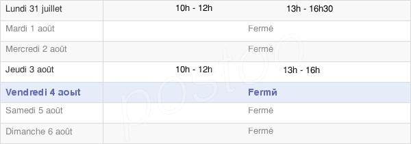 horaires d'ouverture de la Mairie De Champfrémont