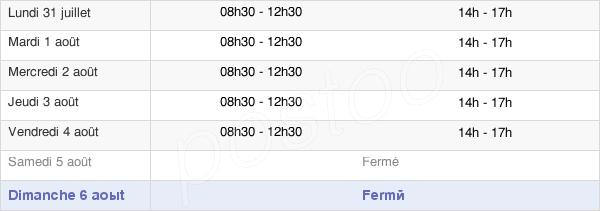 horaires d'ouverture de la Mairie De Saint Pierre-Sur-Orthe