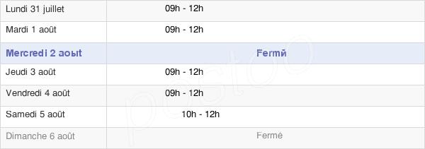 horaires d'ouverture de la Mairie D'Hercé