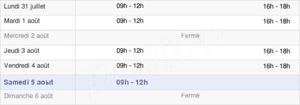 horaires d'ouverture de la Mairie De Saint-Jean-Sur-Mayenne