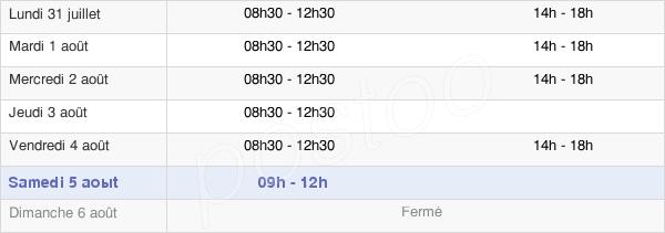 horaires d'ouverture de la Mairie Du Bourgneuf-La-Forêt
