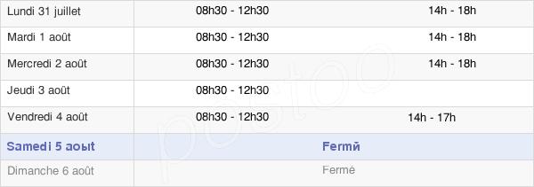 horaires d'ouverture de la Mairie De Soulgé-Sur-Ouette