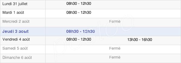 horaires d'ouverture de la Mairie De Torcé-Viviers-En-Charnie