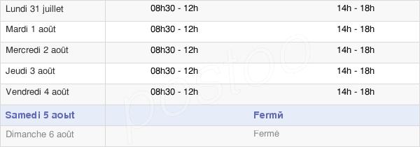 horaires d'ouverture de la Mairie De Houssay