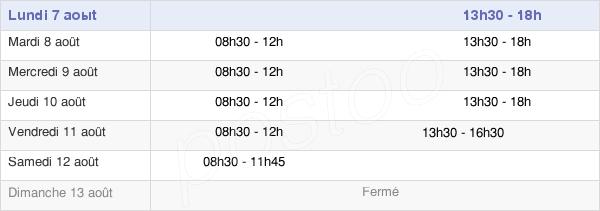 horaires d'ouverture de la Mairie D'Ernée