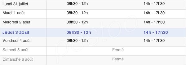 horaires d'ouverture de la Mairie De Montsûrs