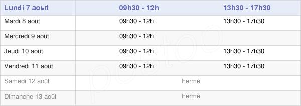 horaires d'ouverture de la Mairie D'Ainay-Le-Château