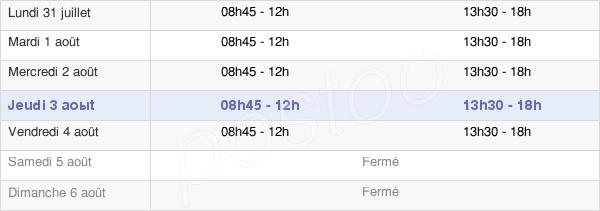 horaires d'ouverture de la Mairie De Saint-Aignan-Sur-Roë