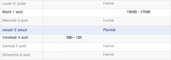 horaires d'ouverture de la Mairie De Saint Pierre Sur-Erve