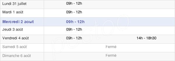 horaires d'ouverture de la Mairie De La Pellerine