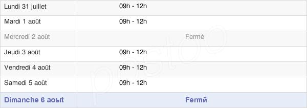 horaires d'ouverture de la Mairie De Beaulieu-Sur-Oudon