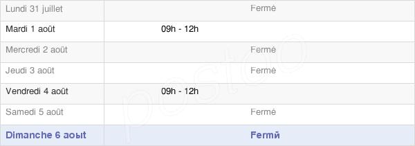 horaires d'ouverture de la Mairie De Préaux