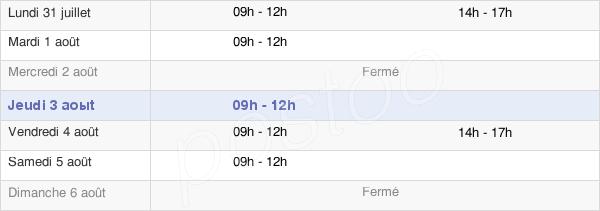 horaires d'ouverture de la Mairie De Saint-Hilaire-Du-Maine