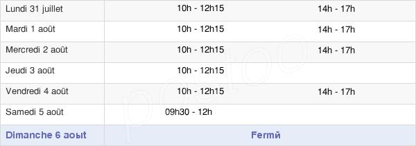 horaires d'ouverture de la Mairie De Cossé-Le-Vivien