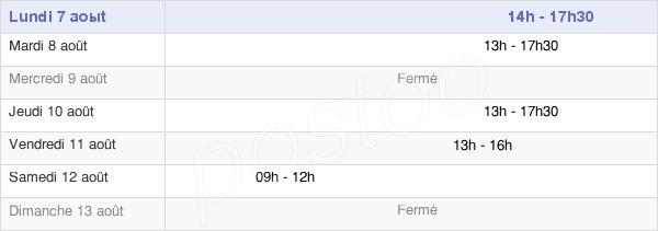 horaires d'ouverture de la Mairie D'Olivet