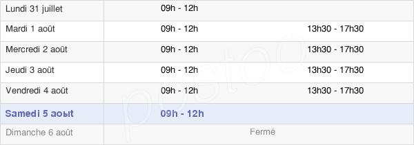 horaires d'ouverture de la Mairie De Saint-Denis-De-Gastines