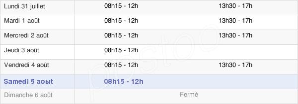 horaires d'ouverture de la Mairie D'Entrammes