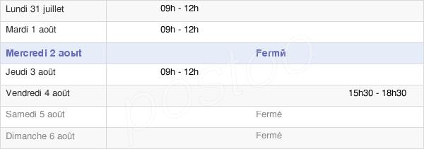 horaires d'ouverture de la Mairie De Senonnes