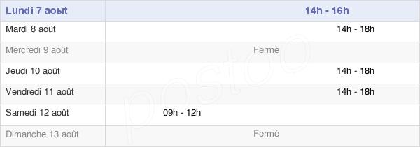 horaires d'ouverture de la Mairie De Forcé