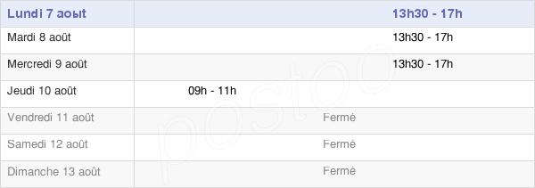 horaires d'ouverture de la Mairie De Chalons Du Maine
