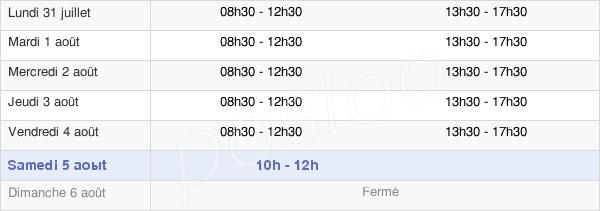horaires d'ouverture de la Mairie De Mayenne