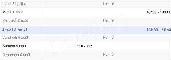 horaires d'ouverture de la Mairie De Fouchères