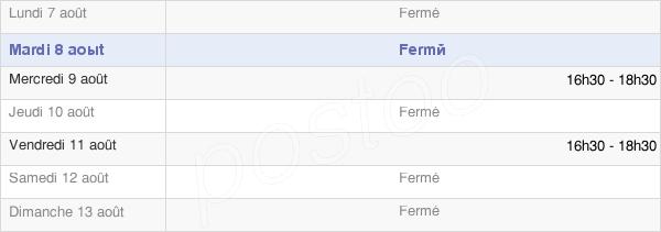 horaires d'ouverture de la Mairie De Cussy-Les-Forges