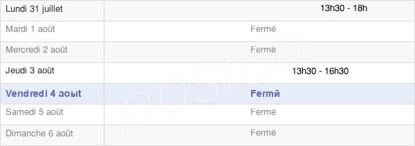 horaires d'ouverture de la Mairie De Fontenouilles