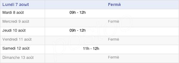 horaires d'ouverture de la Mairie De Saint-Germain-Des-Champs