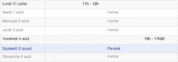 horaires d'ouverture de la Mairie De Saint-André-En-Terre-Plaine