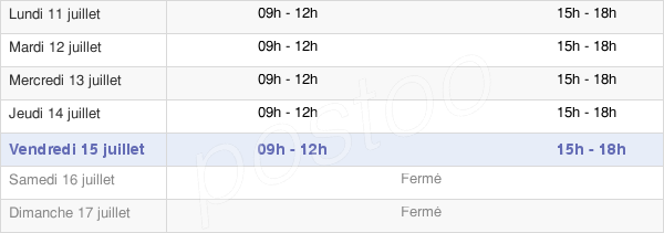 horaires d'ouverture de la Mairie De Meaulne