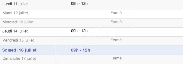 horaires d'ouverture de la Mairie De Marchais-Beton