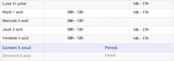 horaires d'ouverture de la Mairie De Bézenet