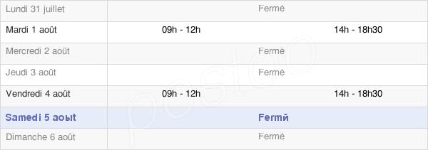 horaires d'ouverture de la Mairie De Saint-Maurice-Le-Vieil