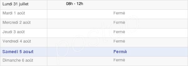 horaires d'ouverture de la Mairie De Perrigny-Sur-Armançon