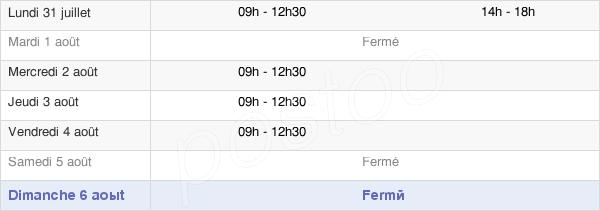 horaires d'ouverture de la Mairie De Saint-Martin-Sur-Ouanne