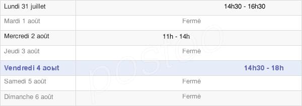 horaires d'ouverture de la Mairie De Champlay