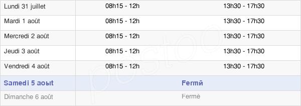 horaires d'ouverture de la Mairie De Paron